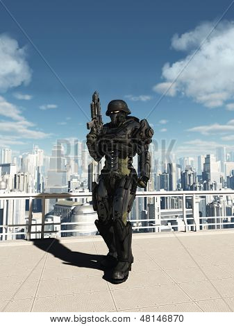 Space Marine Commando - City Patrol
