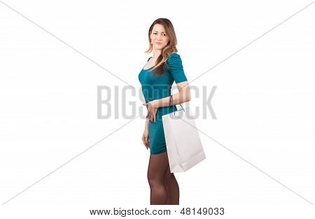 Woman holding shopping bag