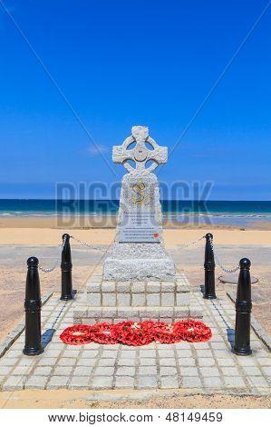 Normandy Landings Navy Memorial In Hermanville, France