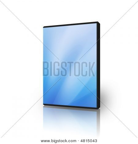 DVD case for software disks on a white background poster