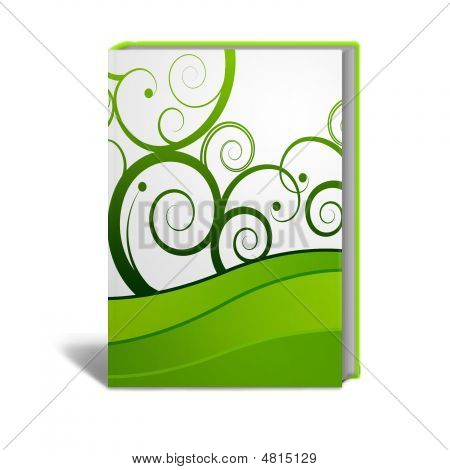 Book with a generic design in green and white poster