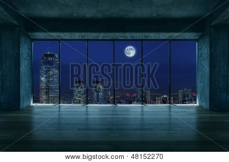 Lofty house with moon view