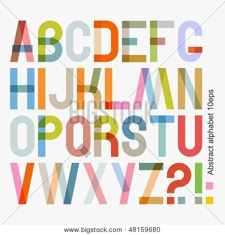 Vector abstract alphabet ( 10eps )