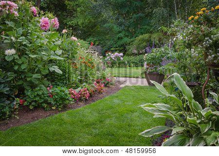 Lush Backyard Garden