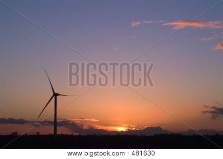 Windfarm Sunrise Sunset