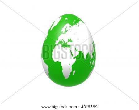 Egg World In Green - Europe, Africa, Asia