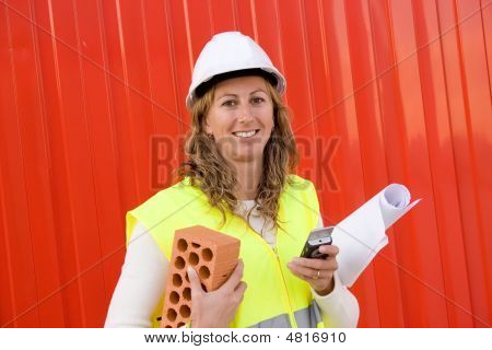 Woman In Construction Business