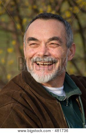 Elderly Man In Jacket