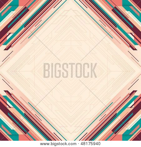Modish layout with abstraction. Vector illustration.