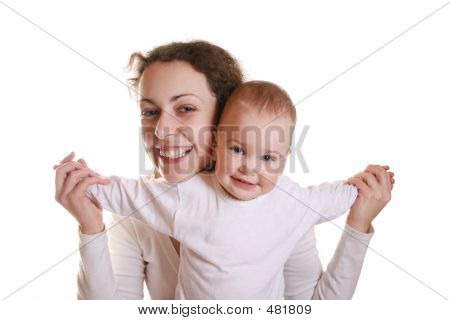 Mother With Baby Try To Fly