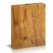 One Wooden box on a white background poster