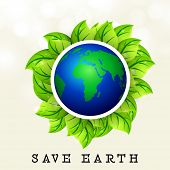 Save earth background. poster
