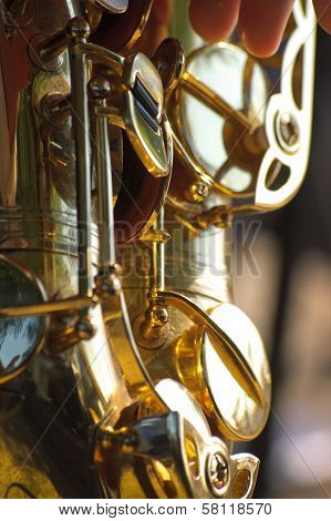 Golden saxophone background