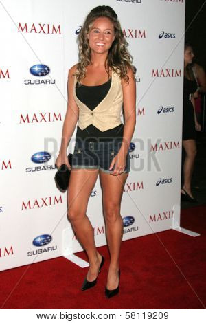 Lauren C. Mayhew at the MAXIM Magazine ICU Event. Area, Hollywood, CA. 08-02-07
