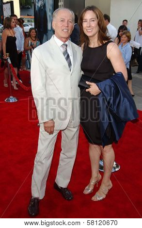 Frank Marshall and wife Kathleen Kennedy at the world premiere of