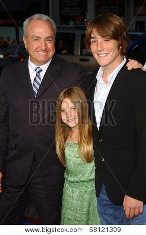 Lorne Michaels and family at the Los Angeles Premiere of