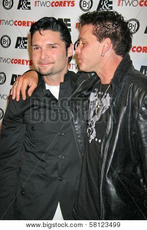 Corey Feldman and Corey Haim at the A and E Premiere of