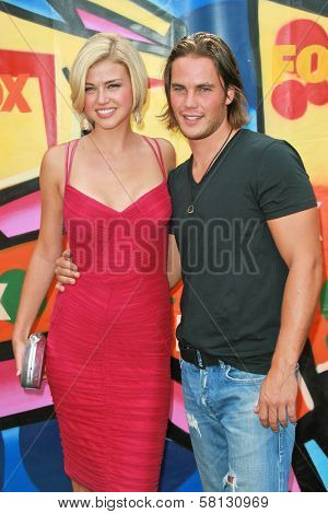 Adrianne Palicki and Taylor Kitsch at the 2007 Teen Choice Awards. Gibson Amphitheater, Universal City, CA. 08-26-07