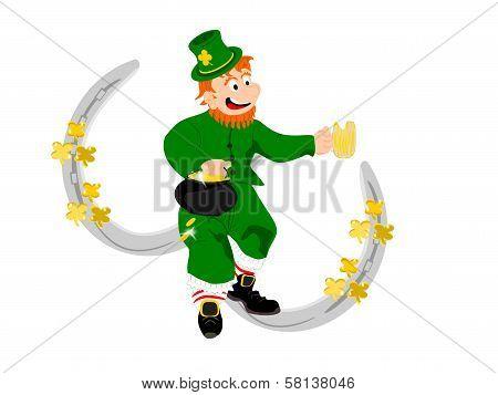 leprechaun beer silver horseshoes