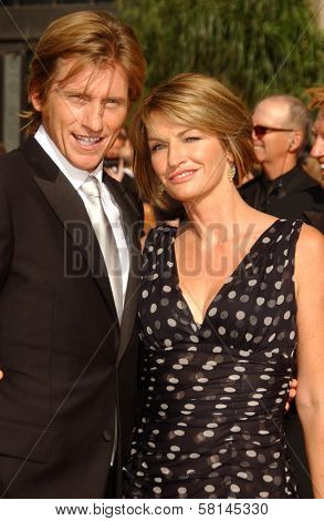 Denis Leary and Ann Lembeck arriving at the 59th Annual Primetime Emmy Awards. The Shrine Auditorium, Los Angeles, CA. 09-16-07