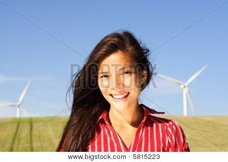Alternative Energy Woman