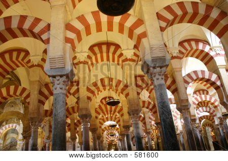 Columns In The Mosque Of Cordova,  Spain