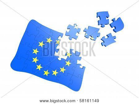 EU flag jigsaw
