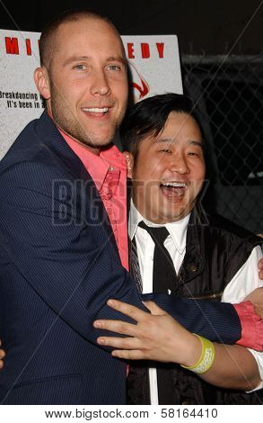 Michael Rosenbaum and Bobby Lee at the Los Angeles Party for