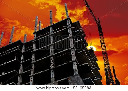 Building Of Modern High-rise Buildings