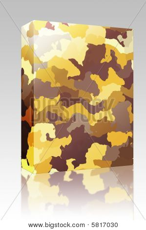 Camouflage Pattern Box Package