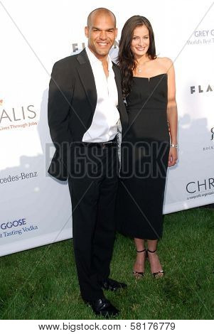 Amaury Nolasco and Dayanara Torres at The Sixth Annual Chrysalis Butterfly Ball. The Home of Susan Harris and Hayward Kaiser, Mandeville Canyon, CA. 06-02-07