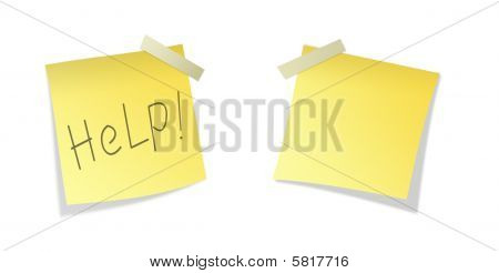 Two Isolated Yellows sticky paper