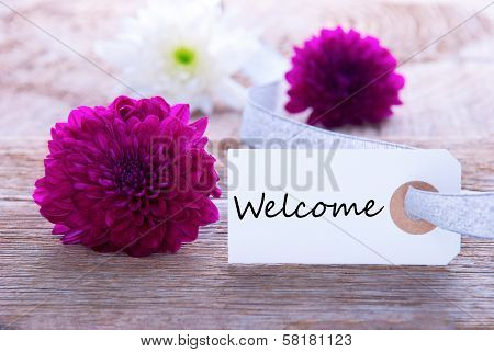 Label With Welcome