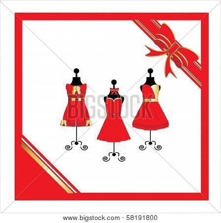 Dresses on a mannequin