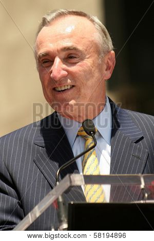 Los Angeles Police Chief William Bratton at the award ceremony honoring Barbara Walters with a star on the Hollywood Walk of Fame. Hollywood Blvd., Hollywood, CA. 06-14-07