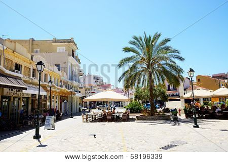 Kalamata, Greece - June 7: The Outdoor Tavern With Local Inhabitants And Tourists On June 7, 2013 In