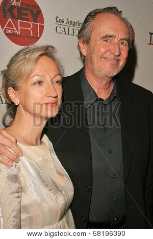 Iya Labunka and Wes Craven at The Hollywood Reporter 36th Annual Key Art Awards. Beverly Hilton Hotel, Beverly Hills, CA. 06-15-07