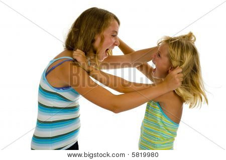 Two Sisters Fighting