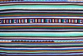 Closeup colorful of fabric alternation pattern background poster