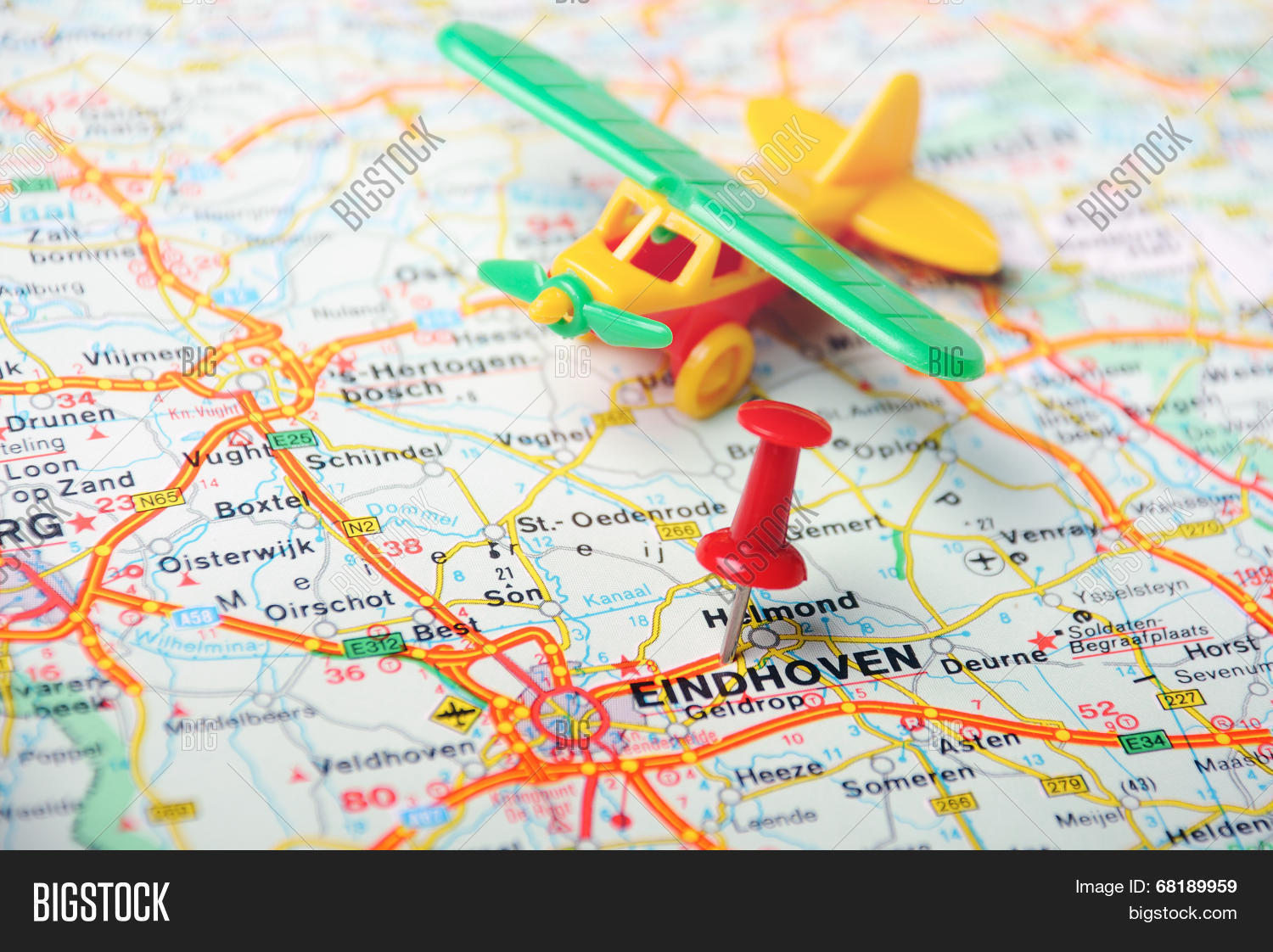 Eindhoven,holland Map Image & Photo (Free Trial) | Bigstock