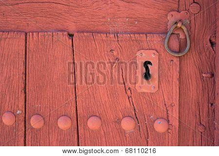 Old lock and door