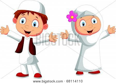 Happy Muslim kid