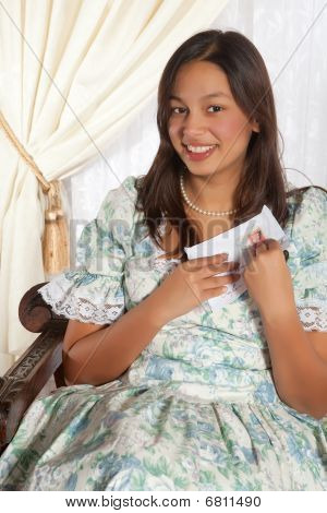 Victorian Woman With Love Letter
