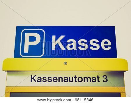 Retro Look Park Kasse