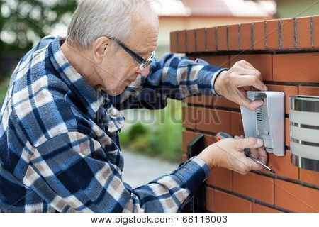 Handyman Fixing Intercom