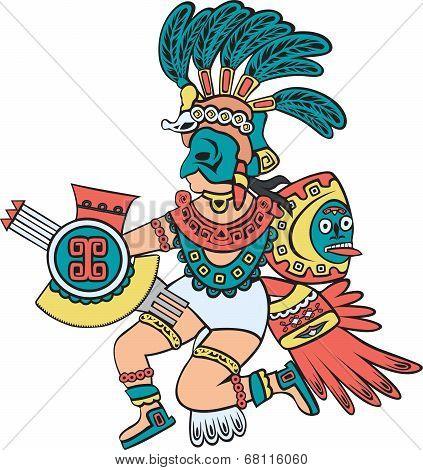 Aztec god, color version