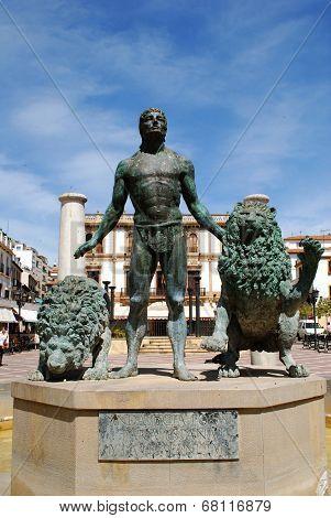 Bronze statue, Ronda.