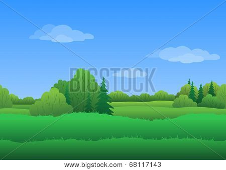 Seamless background, summer landscape