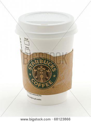 Ankara, Turkey - May 31, 2012: Tall Starbucks Coffee Cup