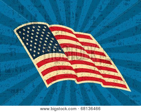 Background with USA Flag.